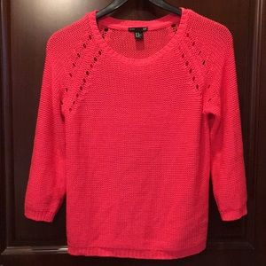 H&M Knit Hot Orange/Pink Sweater